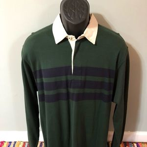 Fall Long Sleeve Rugby Polo Shirt Striped Arrow